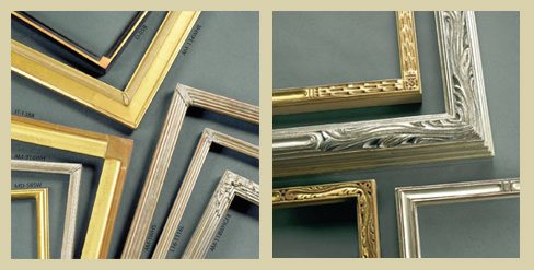 Corner Photo Frames finished corner handmade frames at the framer's workshop, berkeley