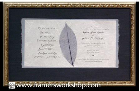 Celebration Framing At The Framer S Workshop Berkeley Ca 94704