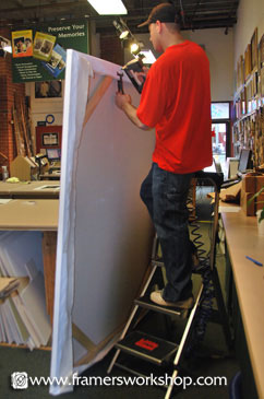 Stretching Oversize Canvas