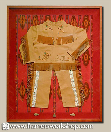 Framing Example of Child's Indian Costume