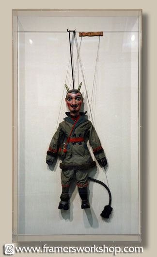 Antique Puppet in Acrylic Display Box