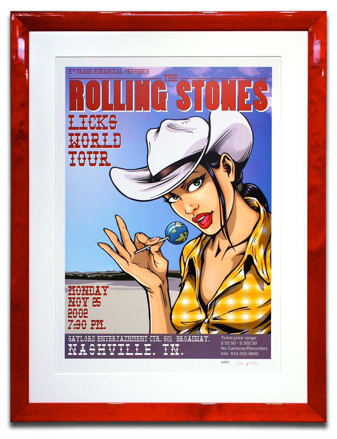 Rolling Stones Licks Tour Poster