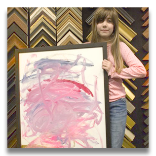 Customer testimonials and framing stories at the framers workshop one of our youngest do it yourself framing customers molly mcardle says i framed this painting that i made and call it girl in the sunset whirlwind solutioingenieria Images