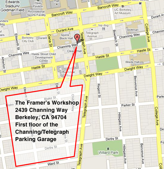The Framers Workshop Berkeley CA Map Directions
