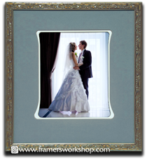 wedding matting and frame