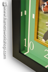 detail colston jersey with football field background mat walls and frame in a frame
